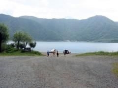 富士五湖の1つ、西湖到着〜