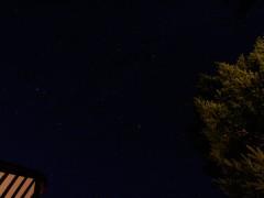 バーネットヒルに戻って見上げると満天の星空