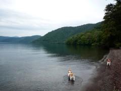 C&わ「キレイな湖だねぇ〜」