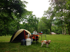 テントの設営も完了〜